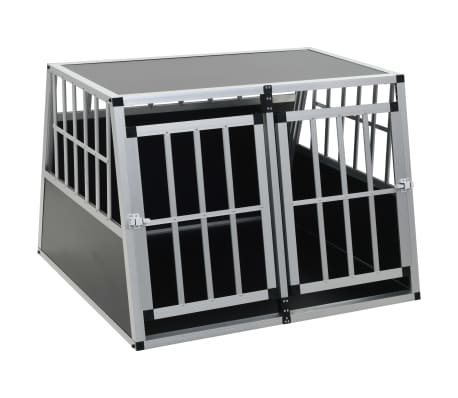 vidaXL Pasji boks z dvojnimi vrati 94x88x69 cm[2/11]