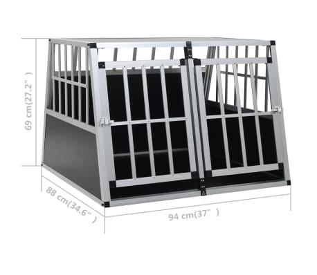 vidaXL Hundetransportbox mit Doppeltür 94 x 88 x 69 cm[11/11]
