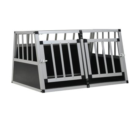 "vidaXL Dog Cage with Double Door 35""x27.2""x19.7"""