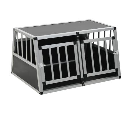 vidaXL Pasji boks z dvojnimi vrati 89x60x50 cm[2/11]