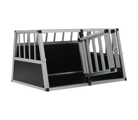 vidaXL Pasji boks z dvojnimi vrati 89x60x50 cm[6/11]