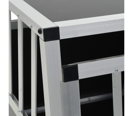 vidaXL Pasji boks z dvojnimi vrati 89x60x50 cm[8/11]