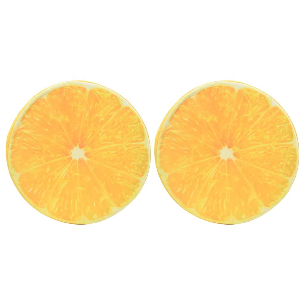 Polštářky s potiskem ovoce 2 ks pomeranč