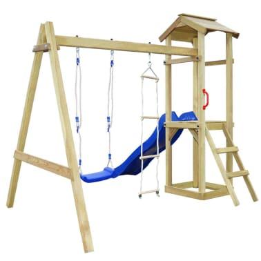 vidaXL Parque infantil con tobogán, escaleras y columpio de madera FSC[3/7]