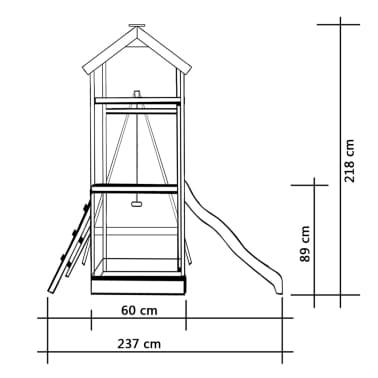 vidaXL Parque infantil con tobogán, escaleras y columpio de madera FSC[5/7]
