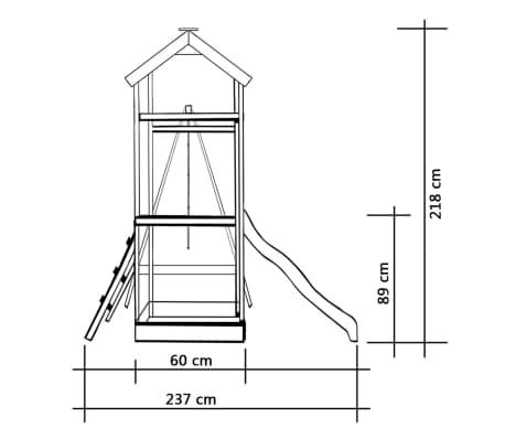 vidaXL Žaidimų aikštelė su čiuožykla, kopėčiomis, sūpynėmis, FSC med.[4/6]