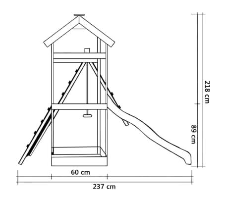 vidaXL Žaid. aikšt. su čiuož., kopėč., sūpyn.,286x237x218cm, FSC med.[5/7]
