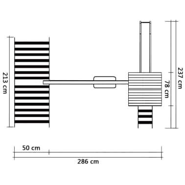 vidaXL Maison de jeu toboggan échelles balançoire 286x237x218 cm FSC[6/7]