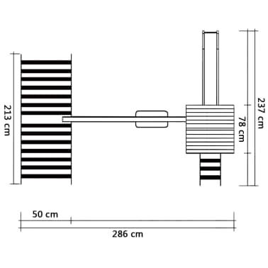 vidaXL Žaid. aikšt. su čiuož., kopėč., sūpyn.,286x237x218cm, FSC med.[6/7]