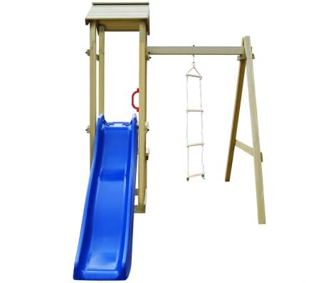 vidaXL Maison de jeu et toboggan échelle balançoire 228x168x218 cm FSC[3/6]