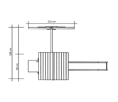 vidaXL Hřiště se skluzavkou a žebříkem 228 x 168 x 218 cm FSC dřevo[5/6]