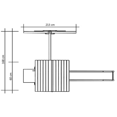 vidaXL Maison de jeu et toboggan échelle balançoire 228x168x218 cm FSC[5/6]
