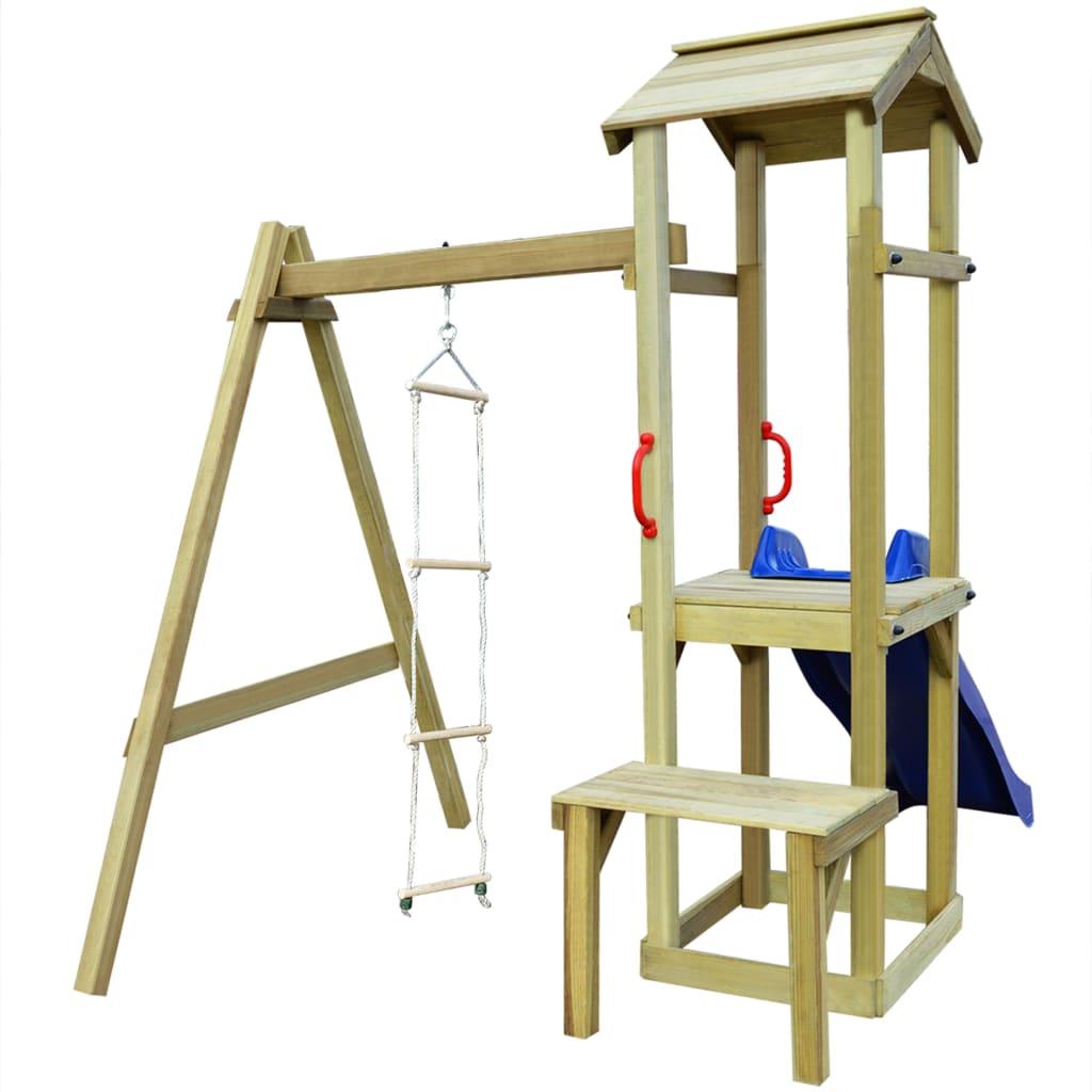 vidaXL Set de joacă din lemn cu tobogan & scară, 228x168x218 cm vidaxl.ro