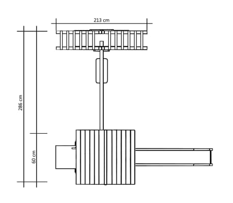 vidaXL Maison de jeu toboggan échelles balançoire 286x228x218 cm FSC[6/7]