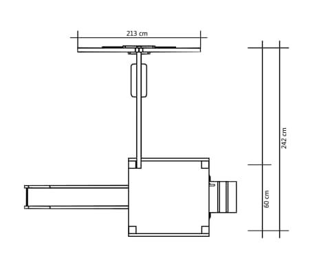 vidaXL Maison et toboggan échelles balançoire 242x237x175 cm Bois FSC[6/7]