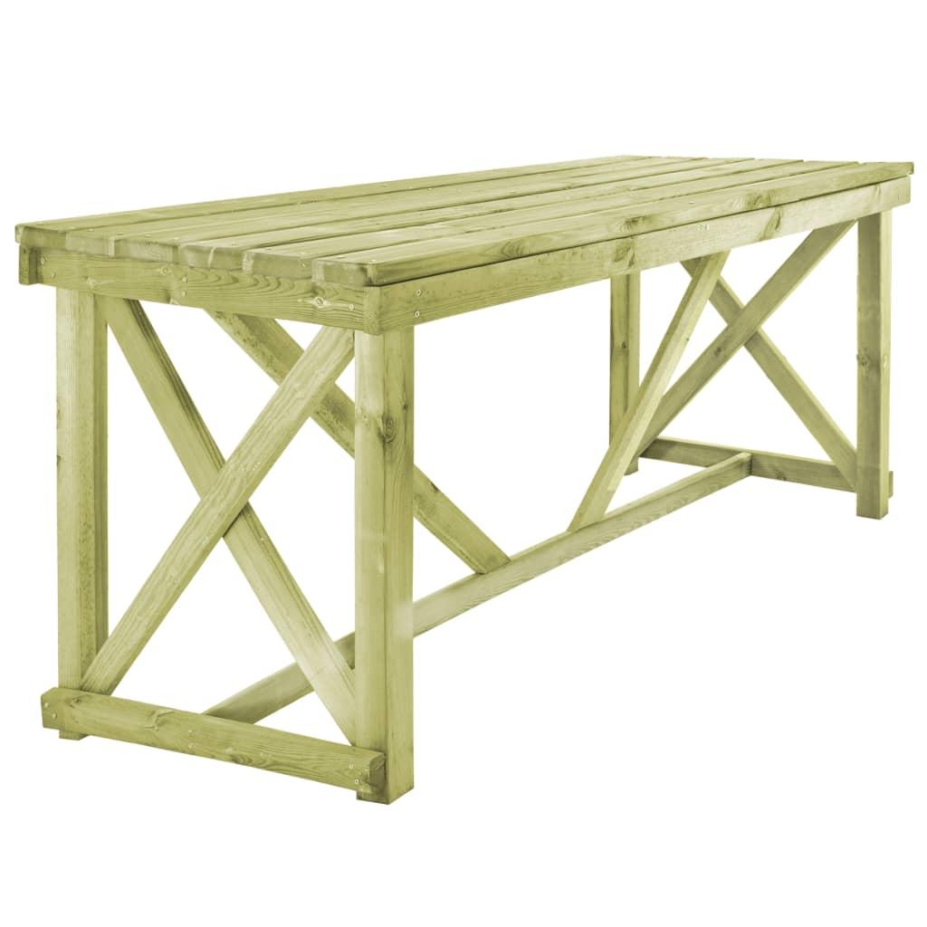 vidaXL Biertafel met 2 banken hout