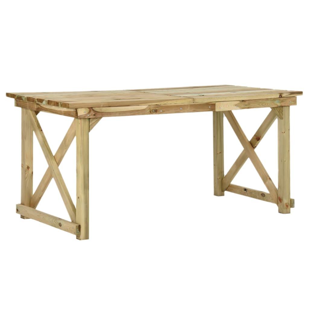 vidaXL Masă de grădină, 160 x 79 x 75 cm, lemn vidaxl.ro