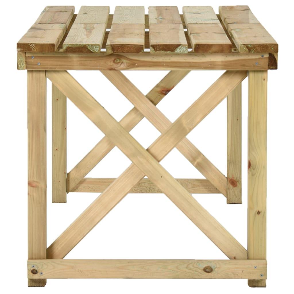 VIDAXL TABLE SALLE à Manger de Jardin Bois FSC Terrasse ...