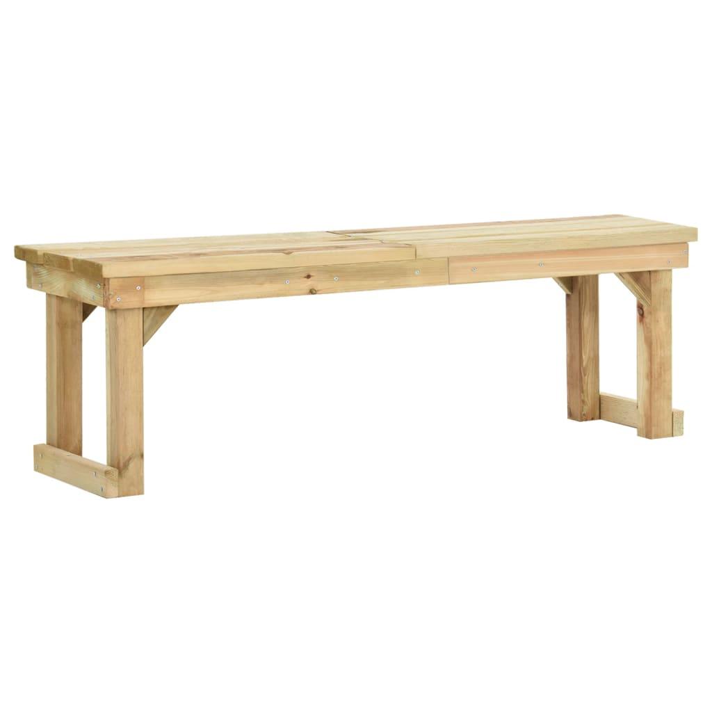 vidaXL Zahradní lavice 140 cm impregnované borové dřevo