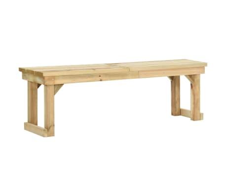 vidaXL Garden Bench 140 cm Impregnated Pinewood