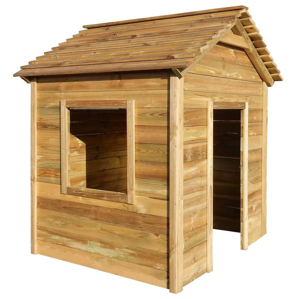 vidaXL Zahradní dětský domeček z FSC borového dřeva 123 x 120 x 146 cm