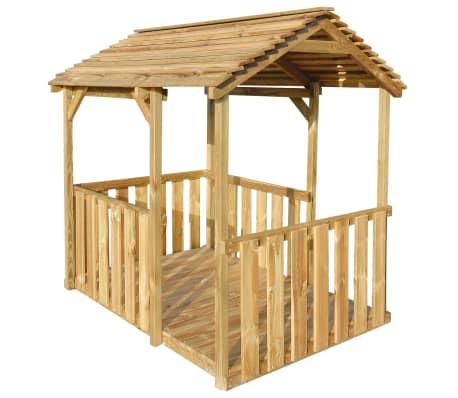 vidaXL Căsuță de joacă de exterior, 122,5 x 160 x 163 cm, lemn de pin