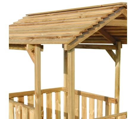 vidaXL Aire de jeu pavillon d'extérieur 122,5 x 160 x 163 cm Pinède FSC[4/7]