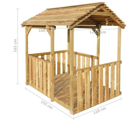 vidaXL Aire de jeu pavillon d'extérieur 122,5 x 160 x 163 cm Pinède FSC[6/7]