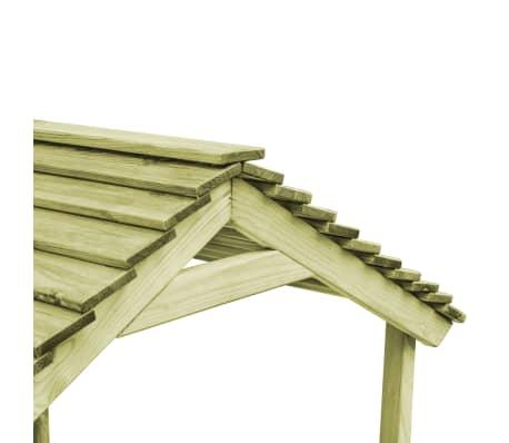 vidaXL Casetta da Giardino con Sabbiera 128x120x145 cm Legno Pino FSC[5/7]