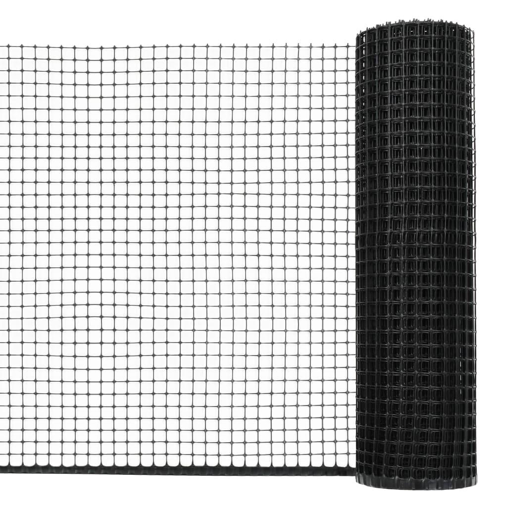 vidaXL Zahradní plotové pletivo HDPE 10 x 0,6 m černé