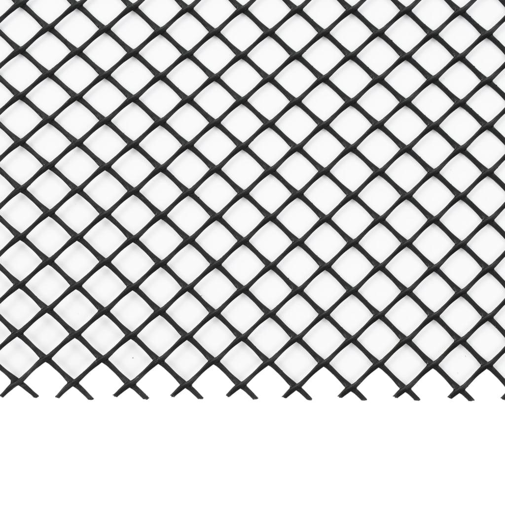 vidaXL 4-delig Gootgaas met klemmen 1,08 ㎡ HDPE
