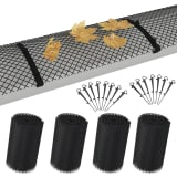 vidaXL 4 Piece Gutter Mesh with Clips HDPE 1.08 ㎡