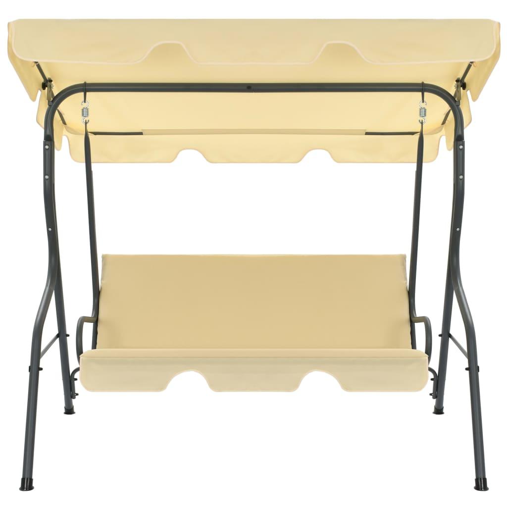 vidaXL Tuinschommelstoel 170x110x153 cm cremewit