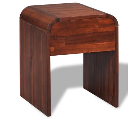 vidaXL Lovos rėmas su 2 nakt. stal., akacijos mediena, 140x200cm[11/17]