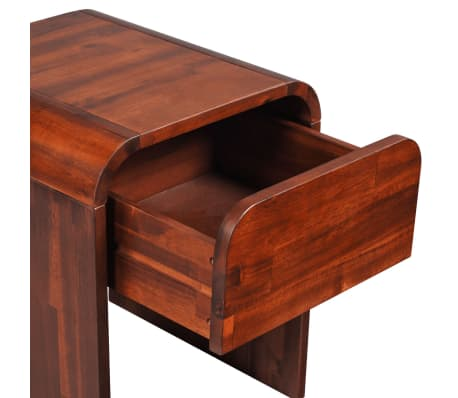 vidaXL Lovos rėmas su 2 nakt. stal., akacijos mediena, 140x200cm[14/17]