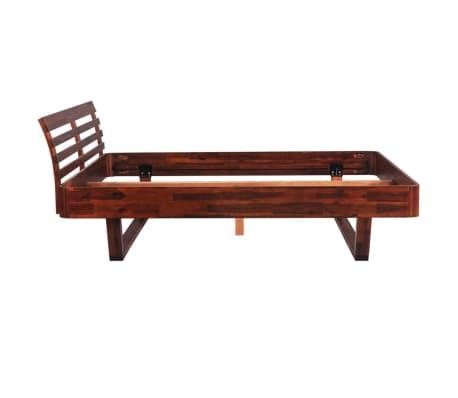 vidaXL Lovos rėmas su 2 nakt. stal., akacijos mediena, 140x200cm[5/17]