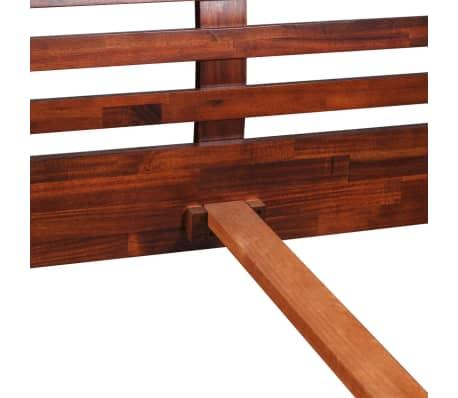 vidaXL Lovos rėmas su 2 nakt. stal., akacijos mediena, 140x200cm[7/17]