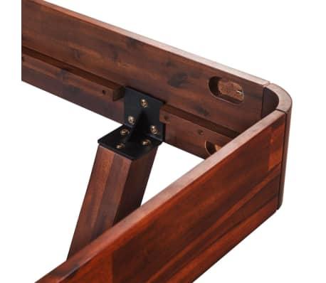 vidaXL Lovos rėmas su 2 nakt. stal., akacijos mediena, 140x200cm[8/17]