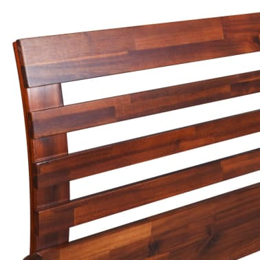 vidaXL Lovos rėmas su 2 nakt. stal., akacijos mediena, 140x200cm[6/17]
