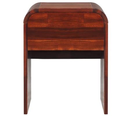 vidaXL Okvir za krevet i 2 noćna ormarića od masivnog bagremovog drva 180 x 200 cm[12/17]