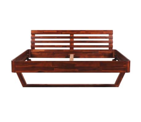 vidaXL Okvir za krevet i 2 noćna ormarića od masivnog bagremovog drva 180 x 200 cm[4/17]