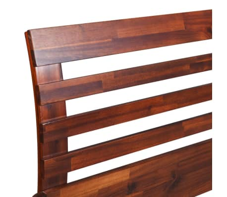 vidaXL Okvir za krevet i 2 noćna ormarića od masivnog bagremovog drva 180 x 200 cm[6/17]