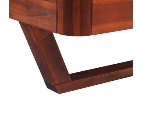 vidaXL Okvir za krevet i 2 noćna ormarića od masivnog bagremovog drva 180 x 200 cm[9/17]