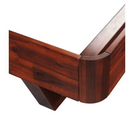 vidaXL Okvir za krevet i 2 noćna ormarića od masivnog bagremovog drva 180 x 200 cm[10/17]