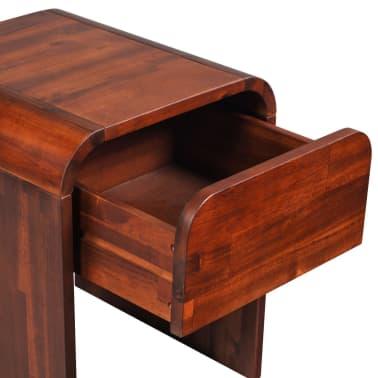 vidaXL Okvir za krevet i 2 noćna ormarića od masivnog bagremovog drva 180 x 200 cm[14/17]