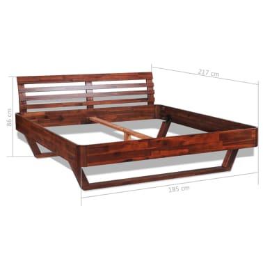 vidaXL Okvir za krevet i 2 noćna ormarića od masivnog bagremovog drva 180 x 200 cm[15/17]
