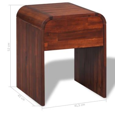 vidaXL Okvir za krevet i 2 noćna ormarića od masivnog bagremovog drva 180 x 200 cm[16/17]