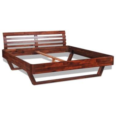 vidaXL Okvir za krevet i 2 noćna ormarića od masivnog bagremovog drva 180 x 200 cm[3/17]