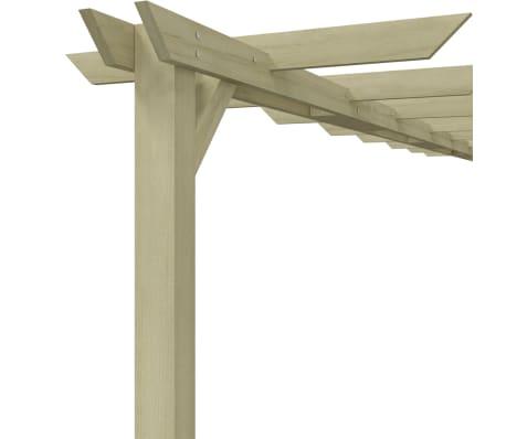 vidaXL Vrtna pergola od impregnirane borovine FSC 360 x 200 x 60 cm[4/5]