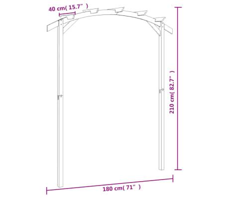 vidaXL Tuinpergola 180x210x40 cm FSC geïmpregneerd grenenhout[6/6]